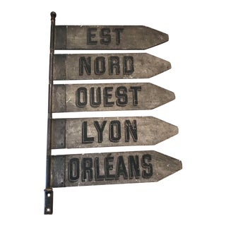 Antique French Destination Train Sign