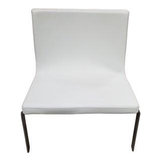 Modern Blu Dot Stella White Lounge Chair For Sale