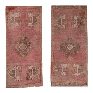 "Matching Turkish Small Rug - a Pair 1'7"" X 3'5"" For Sale"
