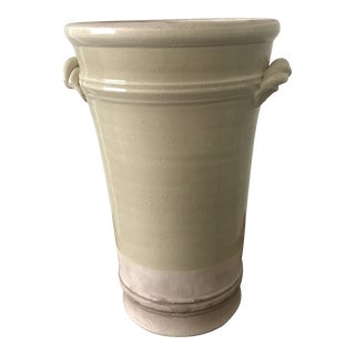Ethan Allen Rope Handle Vase For Sale