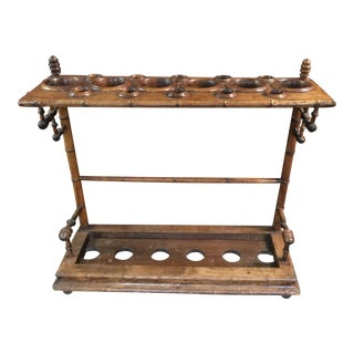 Antique Faux Bamboo Umbrella Cane Stand For Sale
