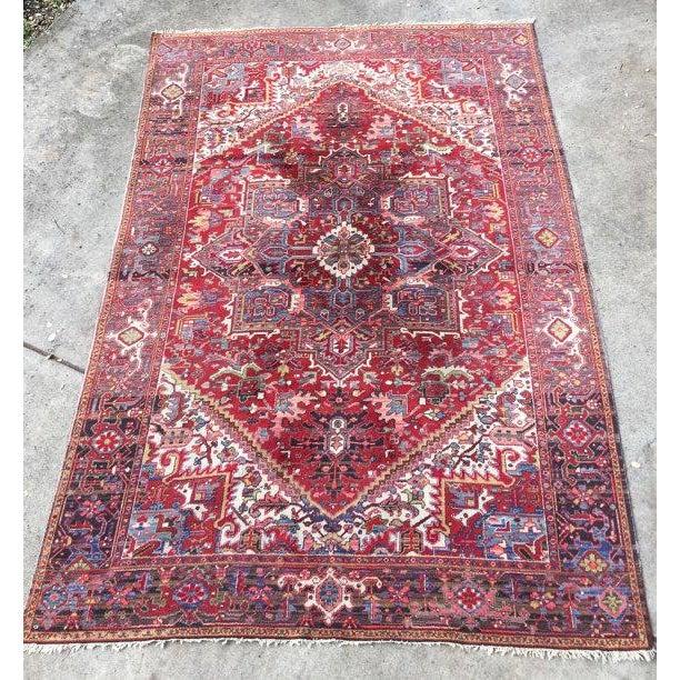 """Antique Persian Heriz Rug - 7'8"""" x 11'3"""" - Image 2 of 6"""