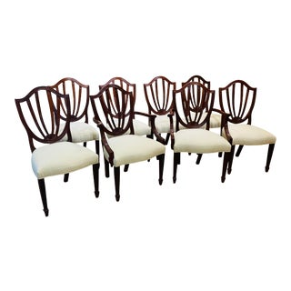 Historic Charleston Collection Dining Chairs By Baker Furniture - Set of 8 For Sale