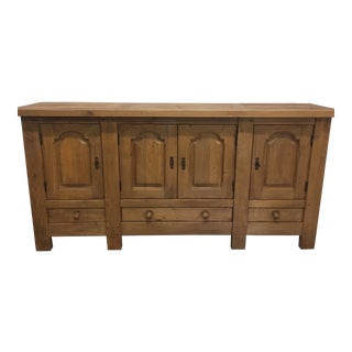 French Oak Storage Cabinet Buffet