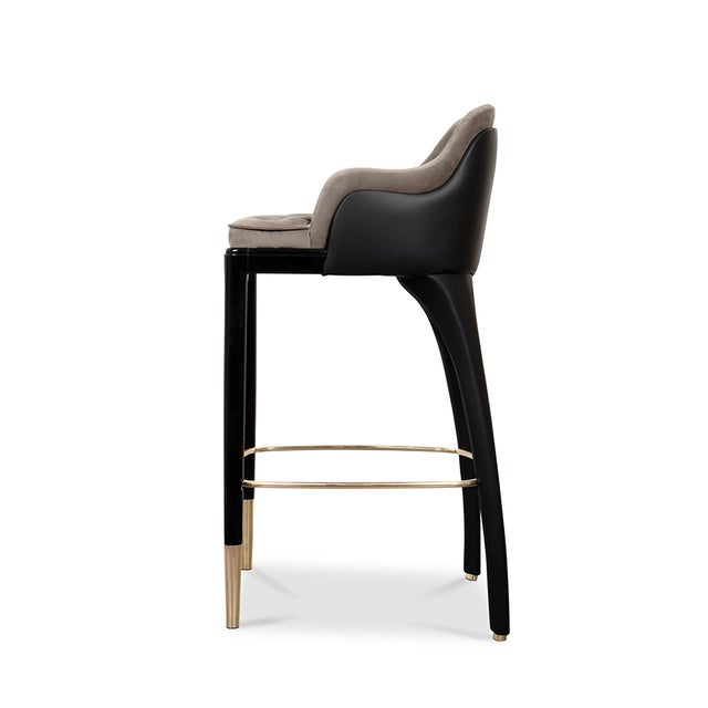 Covet Paris Modern Charla Bar Chair For Sale - Image 4 of 7