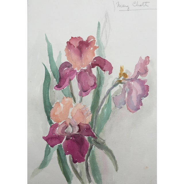 Vintage Watercolor of Flowers by Mary Chott - Image 2 of 5