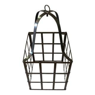 Metal Hanging Pendant or Chandelier Holder For Sale