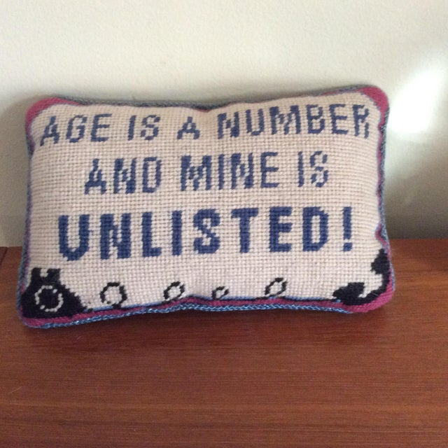 Vintage Needlepoint Pillow - Image 5 of 5