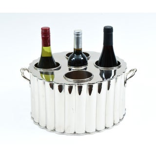 Silver Plate Four Bottles Holder Barware / Tableware With Handles Preview