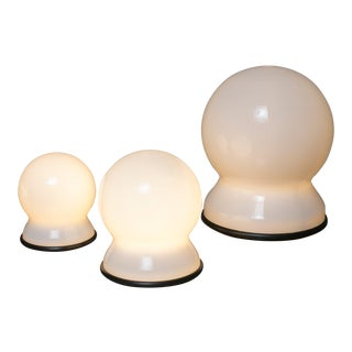 "Set of Three ""Scafandro"" Table Lamps by Sergio Asti for Candle For Sale"