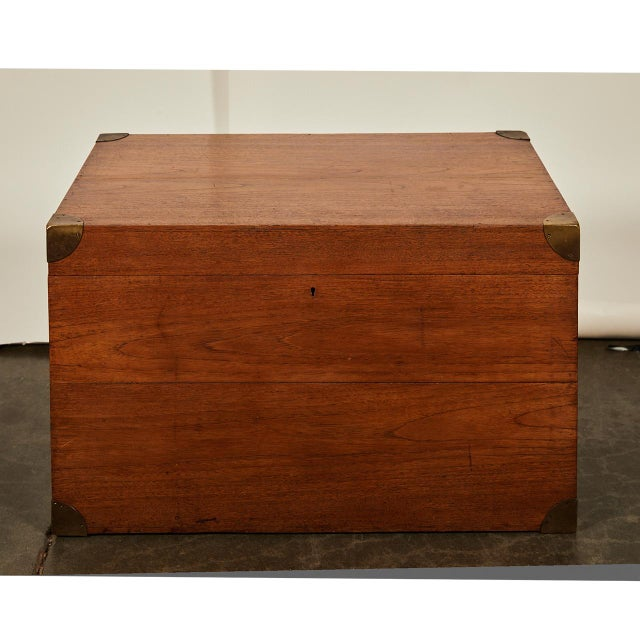 English Trunk With Brass Corners For Sale In Los Angeles - Image 6 of 7