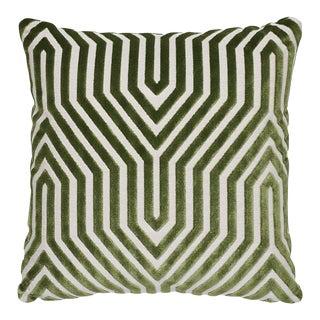 """Vanderbilt Green Velvet 18"""" Pillow"""