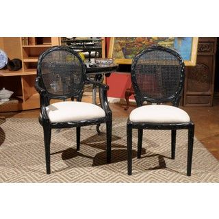 Louis XVI Round Cane Back Dining Chairs - Set of 6 Preview