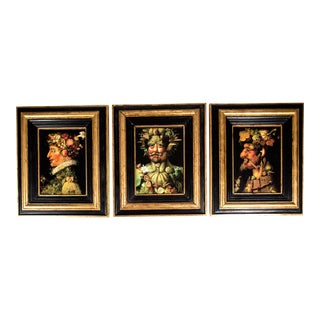 Mid-20th Century Set of Three Oil on Board Painting For Sale