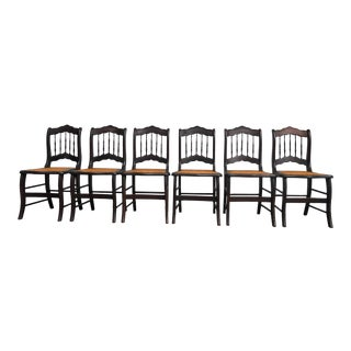 Early 19th Century Cane Seat Dining Chairs - Set of 6 For Sale