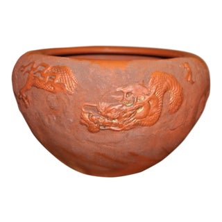Yixing Zisha Chinese Antique Dragon Bowl For Sale