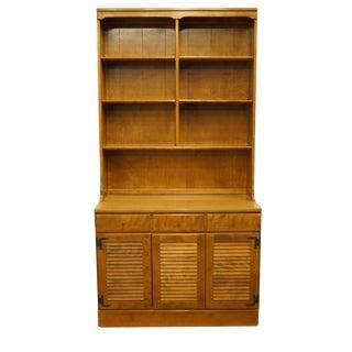 Ethan Allen Heirloom Nutmeg Maple Cupboard For Sale