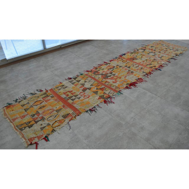Antique Handmade Turkish Tribal Runner - 2′6″ X 13′2″ For Sale - Image 6 of 10