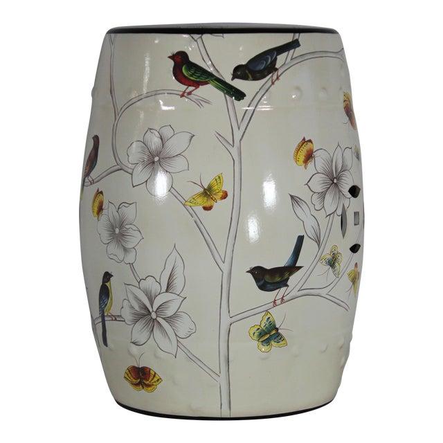 Modern Contemporary Floral Porcelain Garden Stool For Sale
