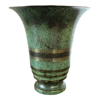 Carl Sorensen Verdigris Bronze Urn For Sale