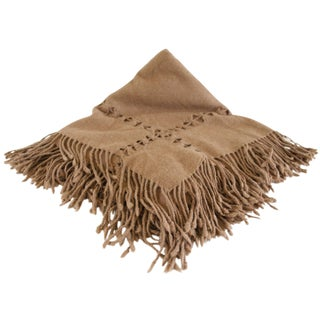 Wool Throw in Walnut For Sale
