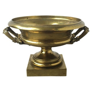19th C. English Brass Compote For Sale