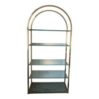 1980s Milo Baughman Brass Etagere or Bookcase For Sale