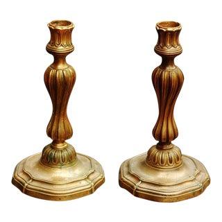 Pair of Louis XV Ormolu Candlesticks 18th/E19thC For Sale