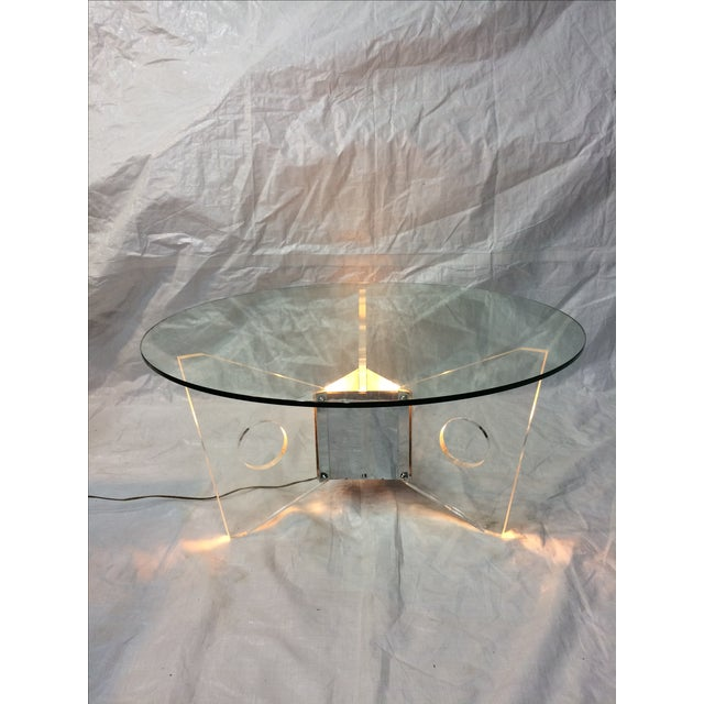 Light-Up Lucite Coffee Table - Image 6 of 9