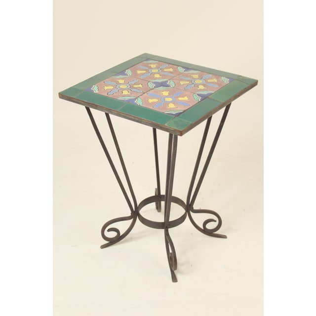 Art Deco 1930s Art Deco Tile Top Occasional Table For Sale - Image 3 of 11