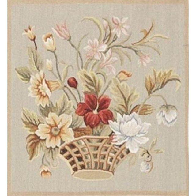 Chinese Floral Aubusson Rug - 5'x 8' - Image 9 of 9