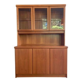 1960s Danish Modern Teak Christian Linneberg Møbelfabrik China Cabinet For Sale