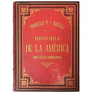 19th History of the Antecolombian America With Original Engravings and Pictures For Sale