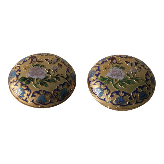 Gilt Enamel Boxes - A Pair - Image 1 of 6