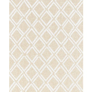 Sample - Schumacher Dina Paperweave Wallpaper in Natural For Sale