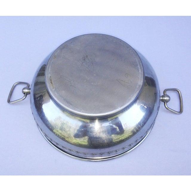 Vintage Medieval Pewter Aluminum Server For Sale - Image 11 of 12