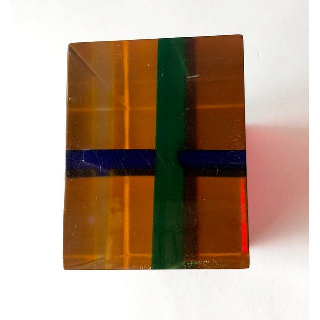 1970s Merle Edelman Acrylic Layered Sculpture For Sale In Los Angeles - Image 6 of 7
