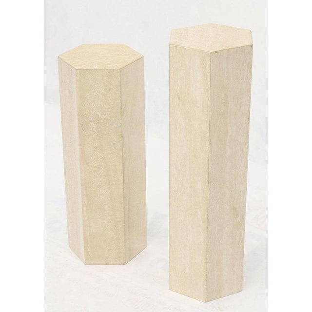 Mid-Century Modern Travertine Marble Tall Tower Shape Table Pedestal For Sale - Image 10 of 13