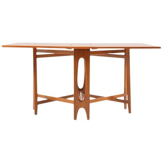 Teak Drop Leaf Table, Norway, 1955 For Sale