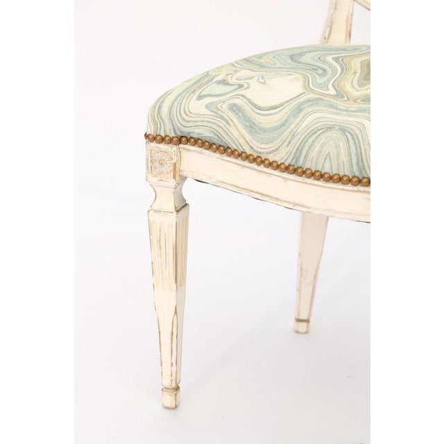 Single Painted Italian Classical Style Side Chair For Sale - Image 4 of 8