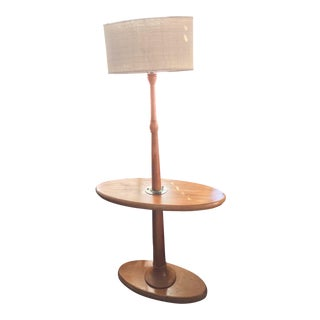 Mid-Century Modern Wood Lamp Table For Sale