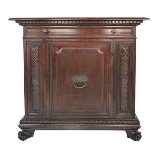 1930 S. Pagano Carved Lion Paw Cabinet For Sale