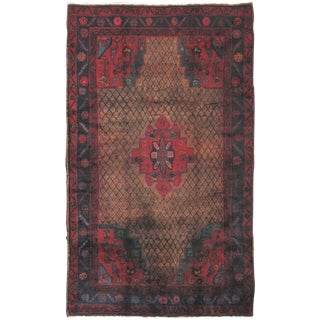 "Vintage Lori Wool Area Rug - 5'1"" X 8'7"" For Sale"
