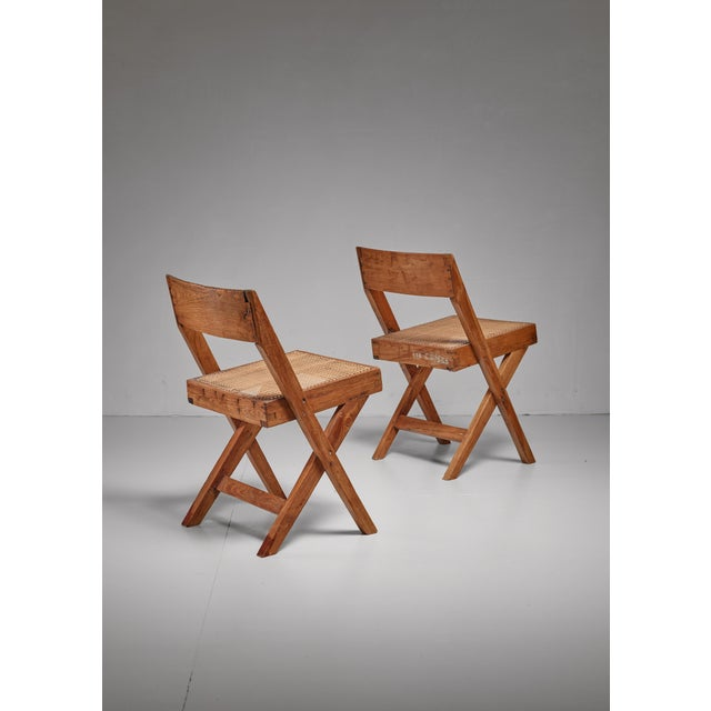 Pierre Jeanneret Pierre Jeanneret pair of Chandigarh High Court library chairs, 1950s For Sale - Image 4 of 8