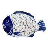 Image of Vintage Blue and White Dansk Arabesque Fish Platter For Sale