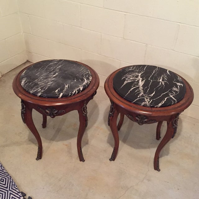 Antique French Side Tables - A Pair - Image 2 of 9