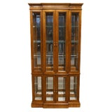 "Image of 20th Century Traditional Pulaski Furniture 38"" Illuminated Curio Display Cabinet For Sale"
