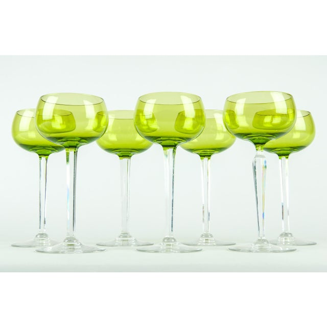 Mid 20th Century Vintage French Crystal Barware Set 7 Pieces For Sale - Image 5 of 5