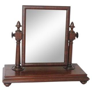 Early 20th C. Antique Gentleman Vanity Mirror For Sale
