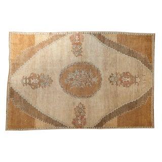 "Vintage Oushak Carpet - 6'5"" X 9'6"""